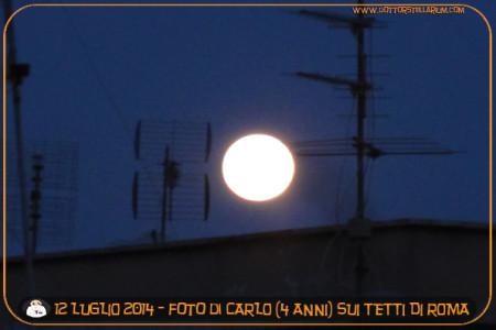 La luna sui tetti di Roma (Carlo 4 anni)