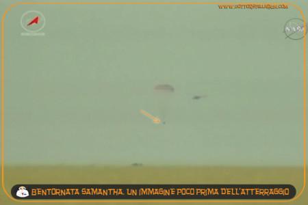 Samantha è atterrata !!!