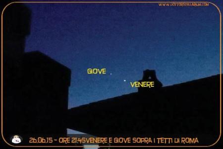 Giove e Venere al tramonto