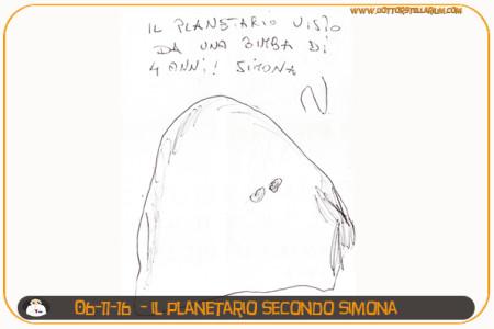 Il planetario visto da Simona