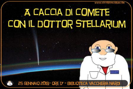 A caccia di comete con il Dottor Stellarium – 4 gennaio ore 17 Biblioteca Vaccheria Nardi