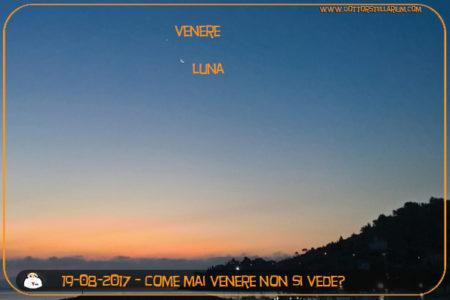 Perchè Venere non si vede in cielo in queste notti?