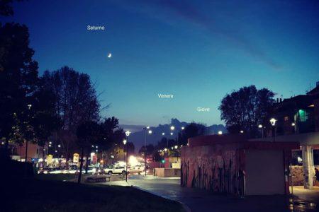 Una schierata di pianeti in cielo
