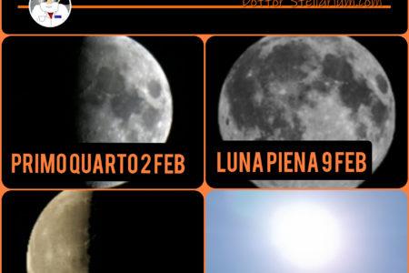 Quando si vede la Luna a Febbraio 2020