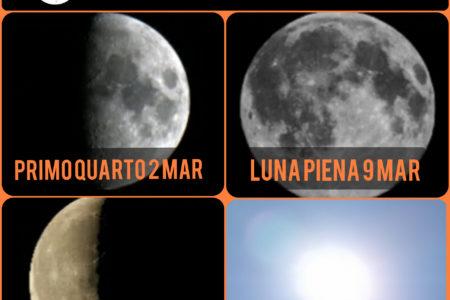 Quando si vede la Luna a Marzo 2020