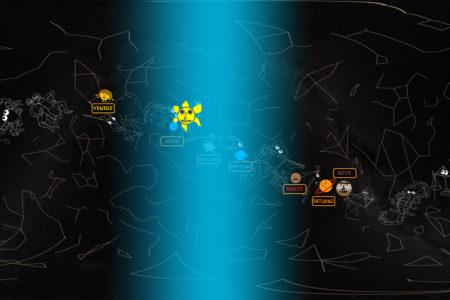 Dove trovare i pianeti in cielo ad Aprile nel mio planetario 360°