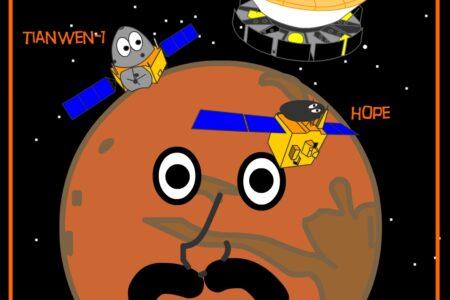 C'è festa su Marte 3 nuovi arrivi in pochi giorni